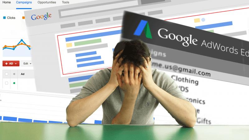 Распространённые ошибки в AdWords