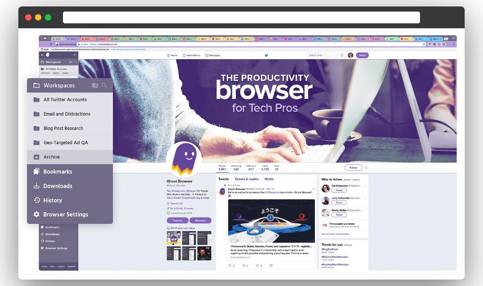 антидетект Ghost Browser
