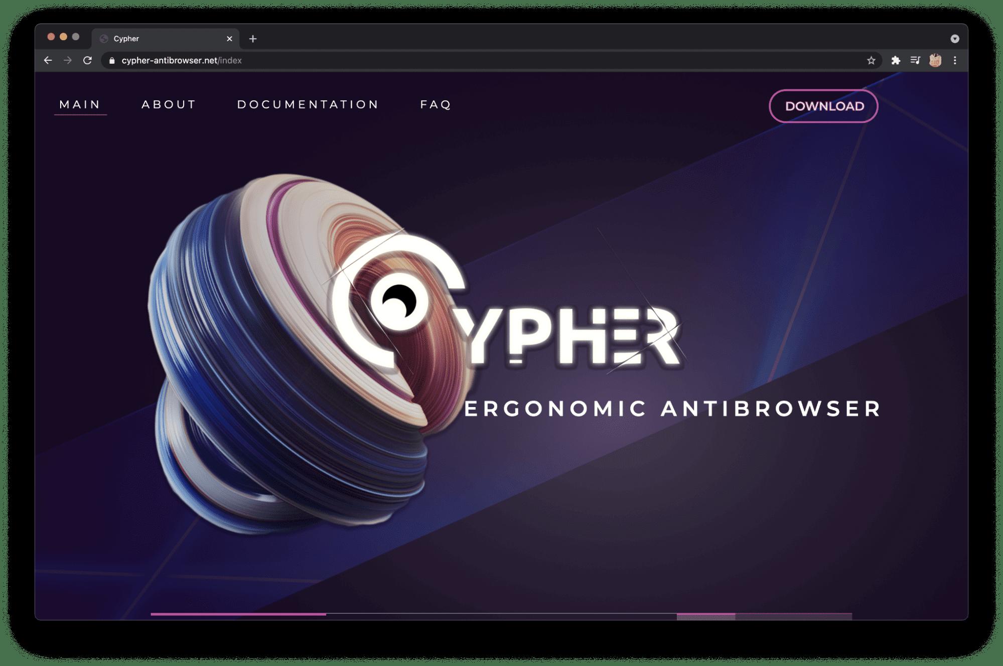антидетект браузер Cypher