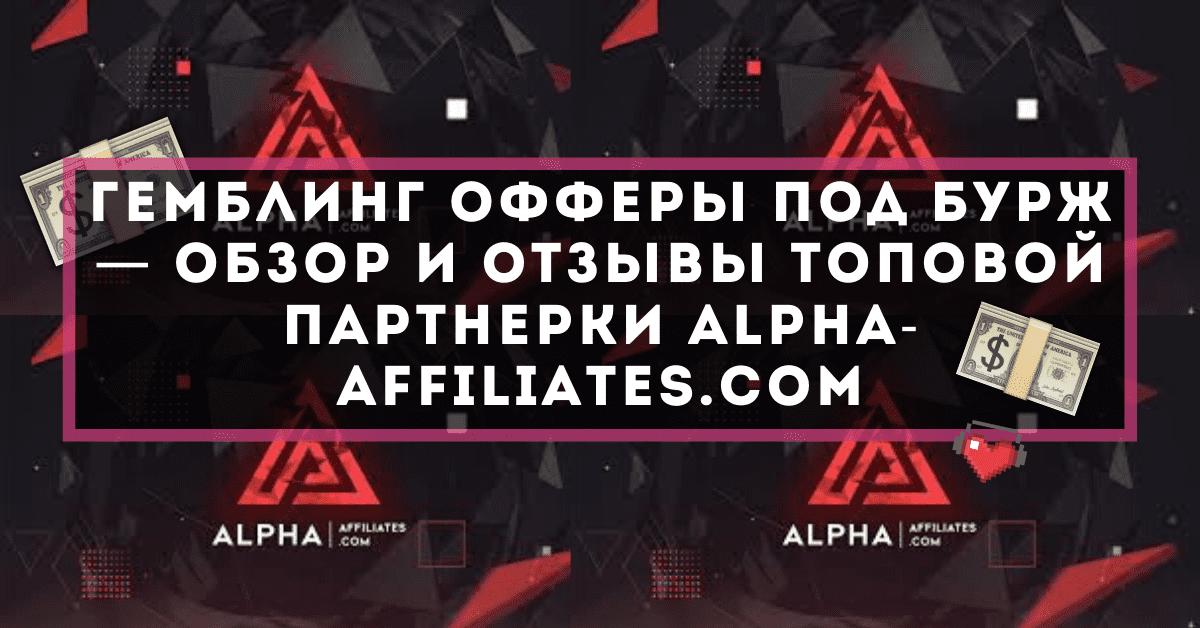 Гемблинг офферы под бурж — обзор и отзывы топовой партнерки Alpha-Affiliates.com