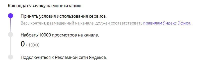 Как подключить монетизацию на Яндекс.Эфир