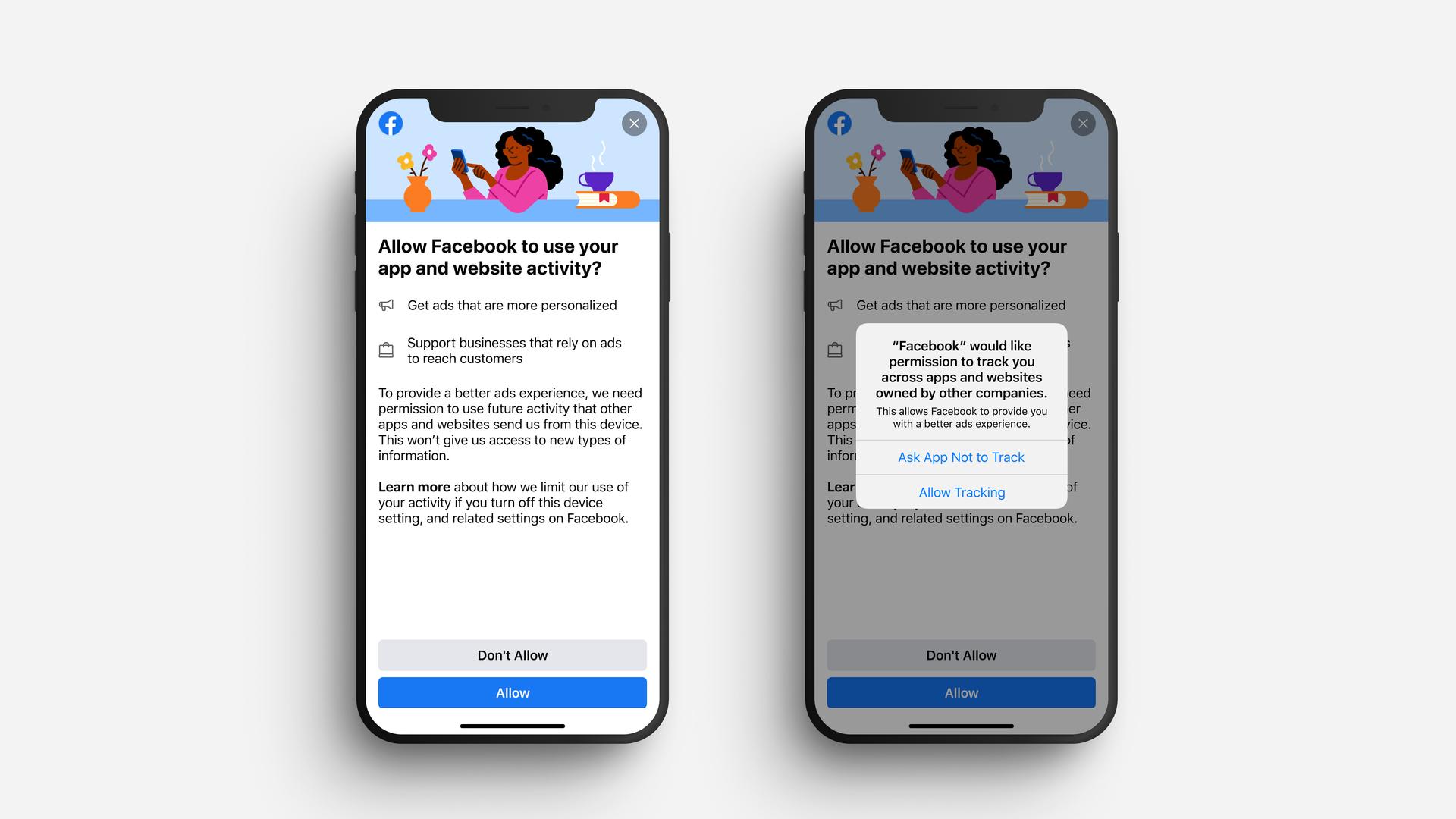 Facebook тестирует свои уведомления для пользователей  iOS 14 в ответ на действия Apple
