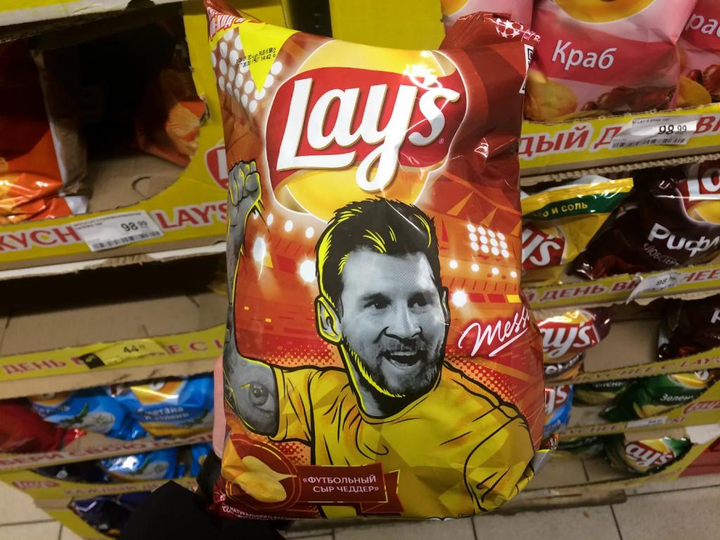 чипсы с лицами футболистов