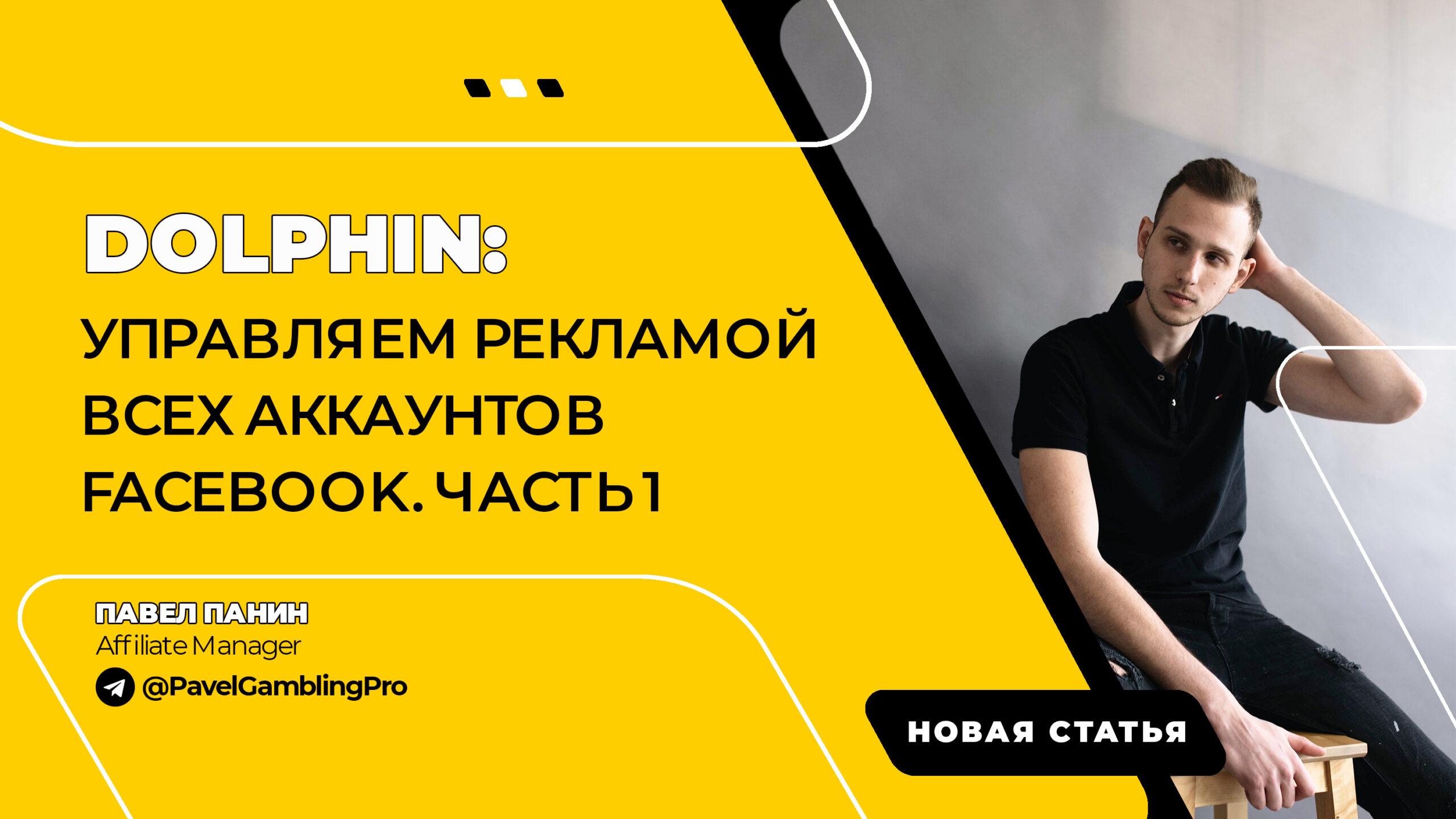 Dolphin: управляем рекламой всех аккаунтов FaceBook. Часть 1